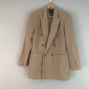 Limited wool cashmere camel pea coat s